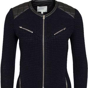 IRO Ceylona Leather Blazer Jacket 40 6